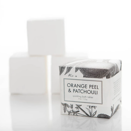 Orange Peel & Patchouli Bath Cube