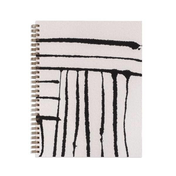 B&W Stripe Painted Workbook