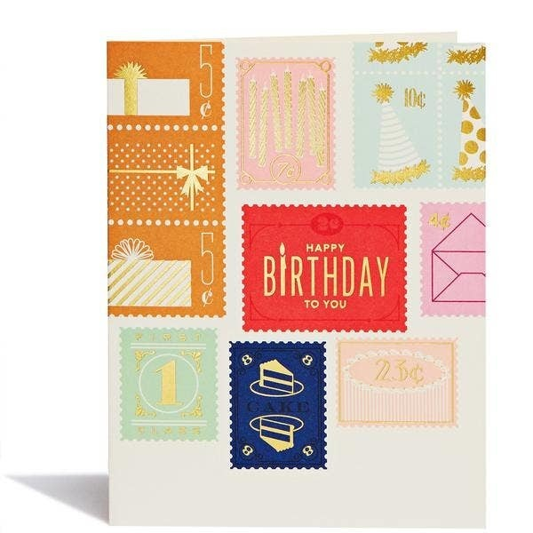Birthday Stamps greeting card