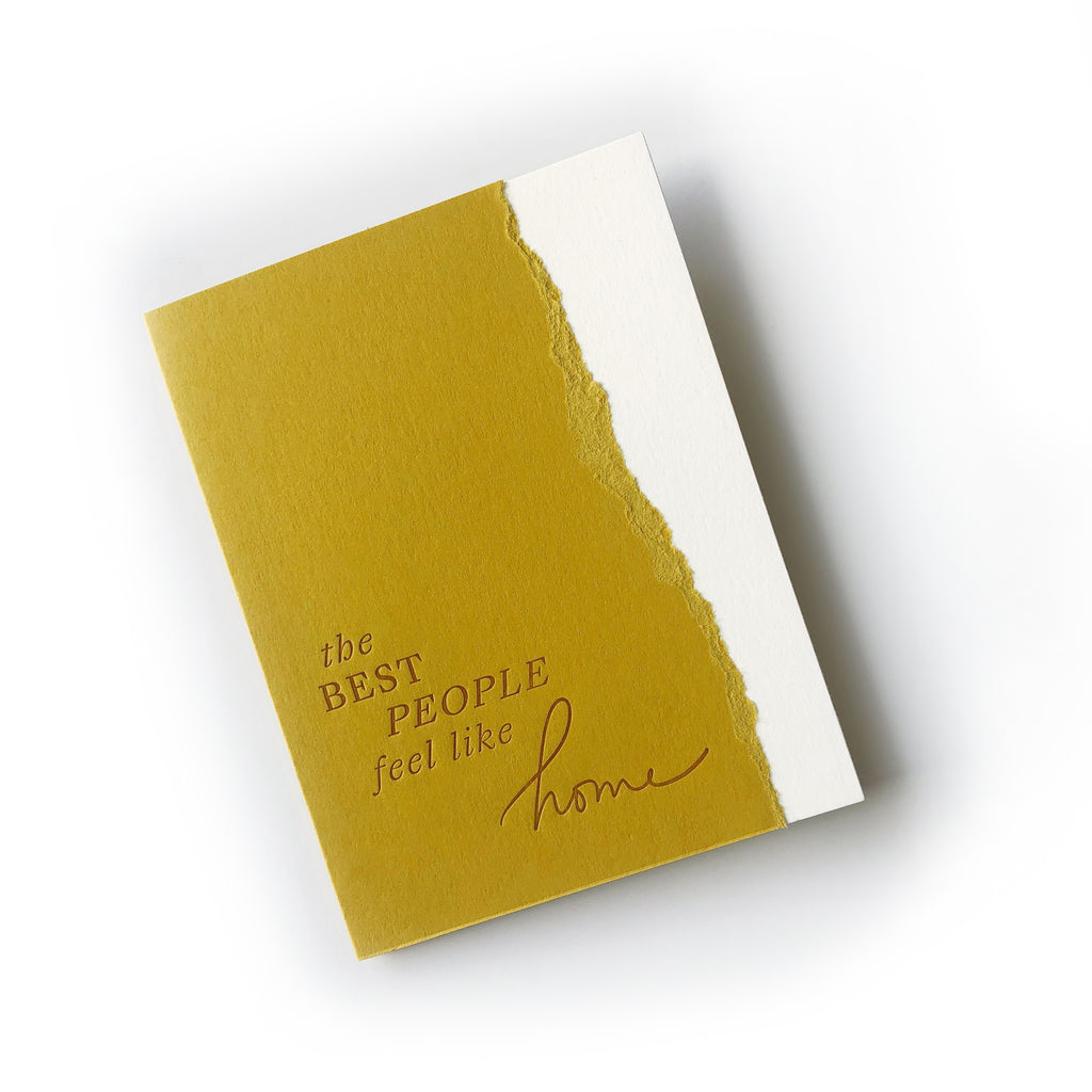 Best People Feel Like Home greeting card
