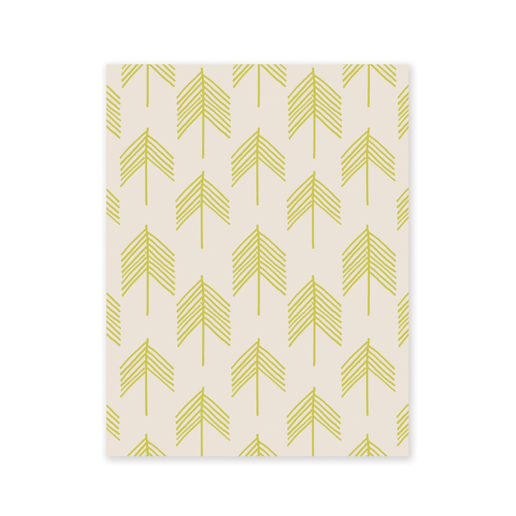 Chevron Trees Gift Wrap