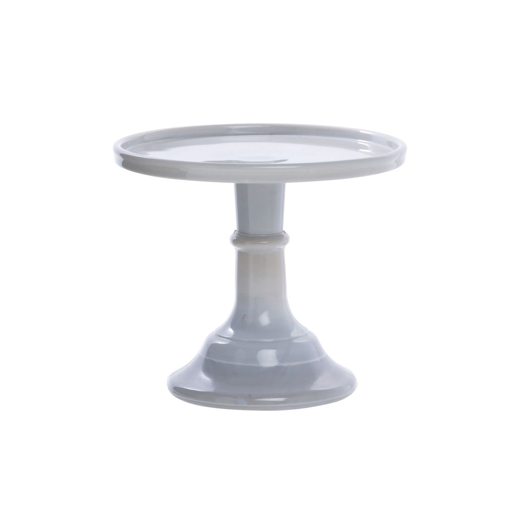 Gray Glass Cake Stand