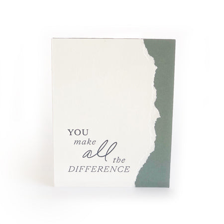You Make All the Difference greeting card