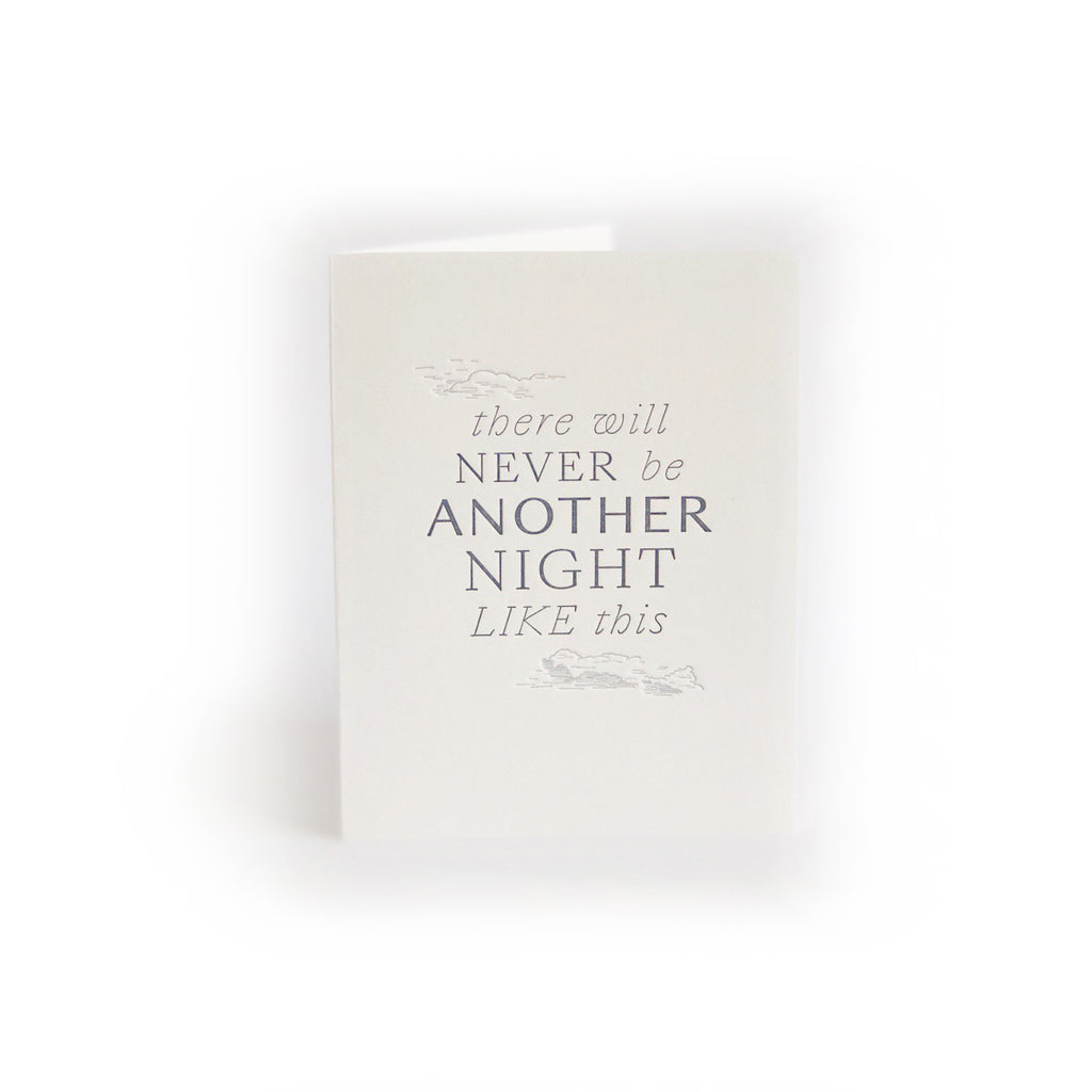 Never Another Night greeting card