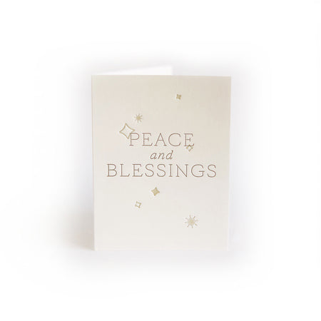 Peace and Blessings greeting card