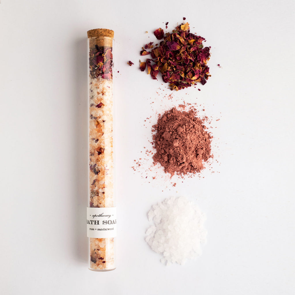 Rose Sandalwood Bath Soak Test Tube