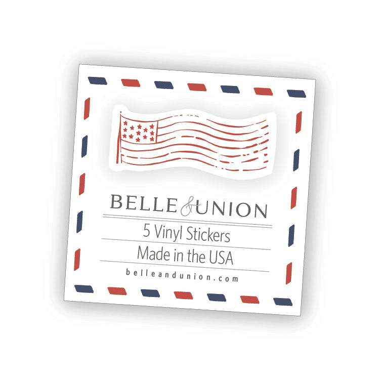 Flag Postmark sticker set