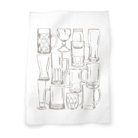 Beer Glasses tea towel