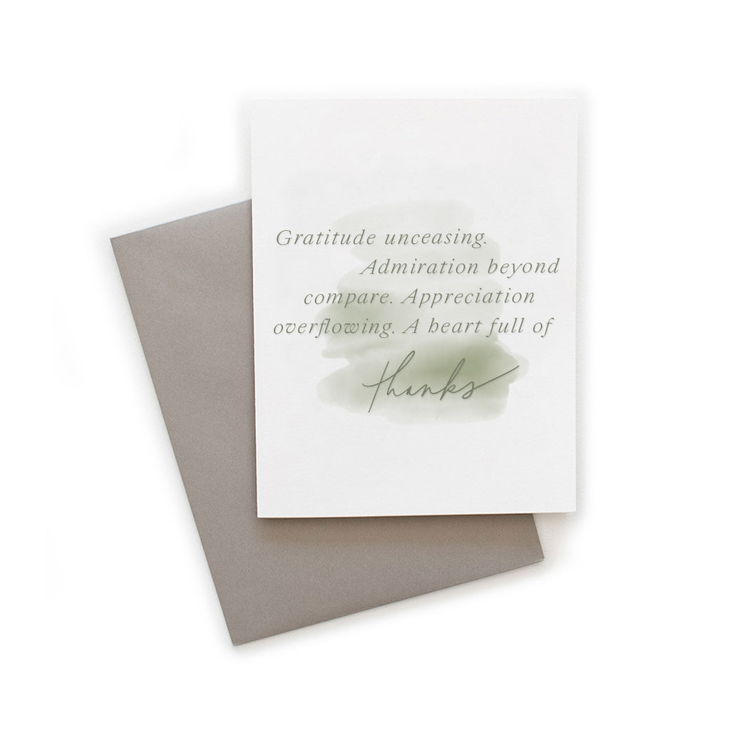 Thanks Watercolor greeting card