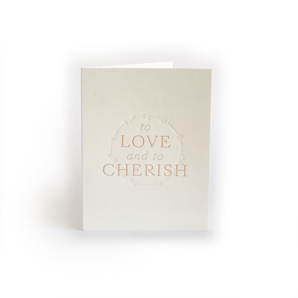 To Love & To Cherish greeting card