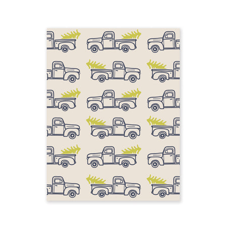 Trucks with Trees Gift Wrap