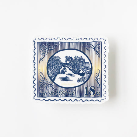 Riverwalk Postage Stamp sticker