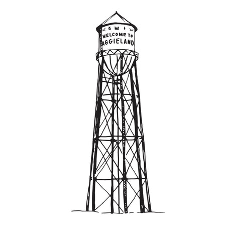Aggie Water Tower art print