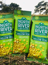 Load image into Gallery viewer, Crunchy Yellow Peas ~ Jalapeno Flavor ~ 1.25 oz snack pack ~ 3 pack