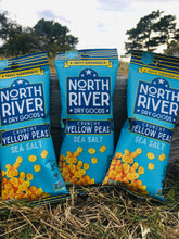Load image into Gallery viewer, Crunchy Yellow Peas ~ Sea Salt Flavor ~ 1.25 oz snack pack ~ 3 pack