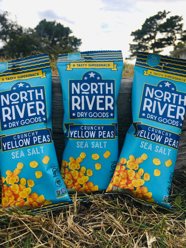 Crunchy Yellow Peas ~ Sea Salt Flavor ~ 1.25 oz snack pack ~ 3 pack