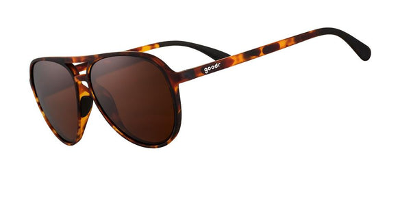 Tortoiseshell Aviator goodr Sunglasses Side View
