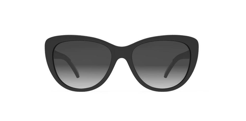 Black Cateye goodr - Runways - Front View