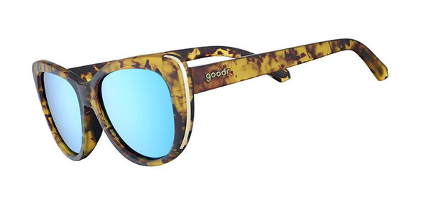 Tortoiseshell Cateye goodr - Runways - Side View