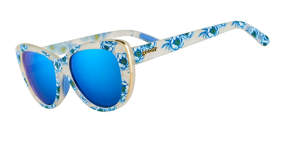 Blue Floral Cateye goodr - Runways - Side View