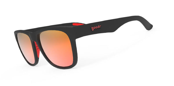 Goodr Sunglasses – Firebreather's Fireball Fury Side View