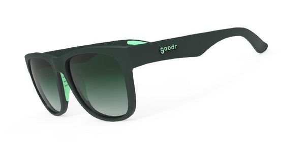 Goodr Mint Julep Electroshocks Running Sunglasses Side View