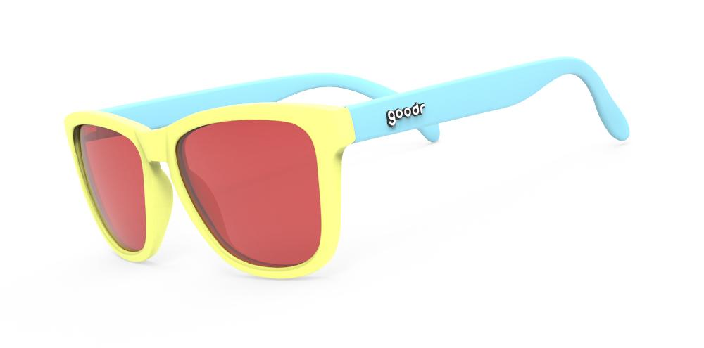 Goodr Pineapple Painkillers Running Sunglasses Front View