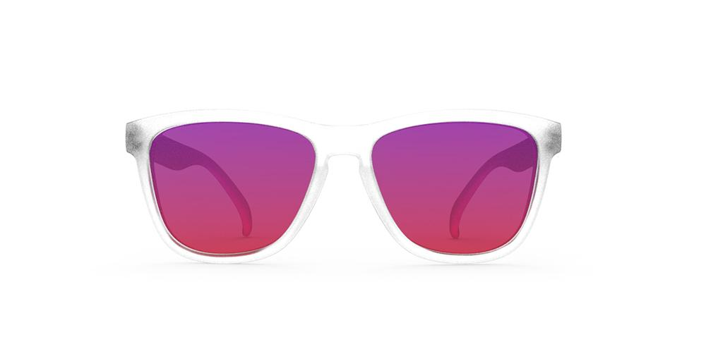 "Goodr Sunglasses – Sunset ""Squishee"" Brain Freeze Front View"