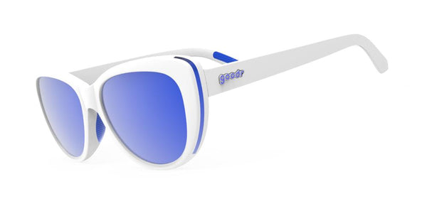 Goodr Iced by Zombie Dragons, Runway Polarised Sunglasses Side View
