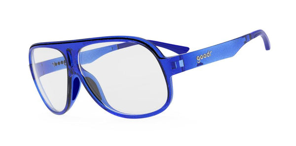 Goodr Jorts for your Face Cycling Sunglasses Side View
