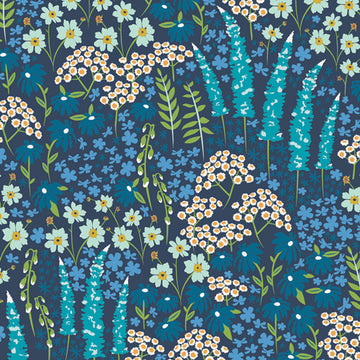Blue Bank Flora in Rayon Challis