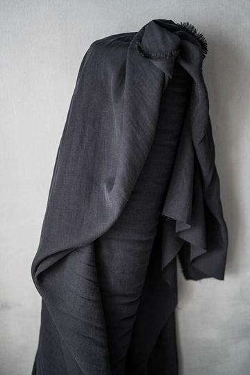 Tencel Linen Fabric - Black