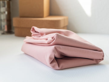 Washed Cotton Twill Fabric - Rose