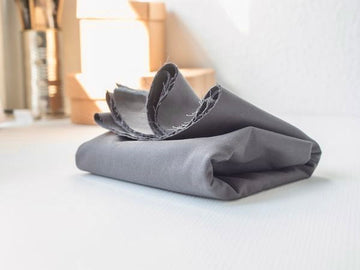Washed Cotton Twill Fabric - Dark Grey