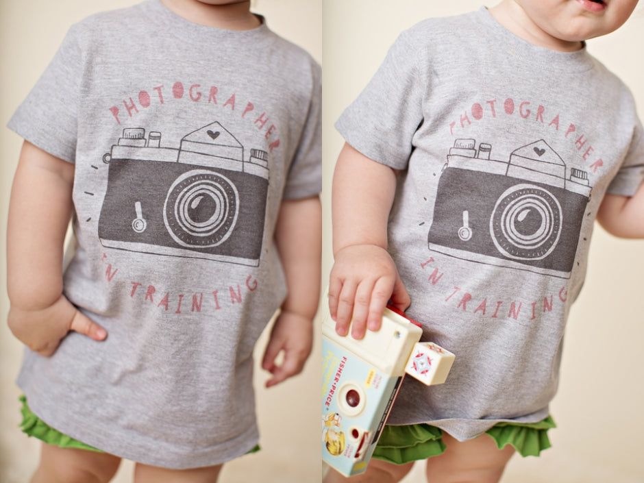 photographer in training - photographer kids tee