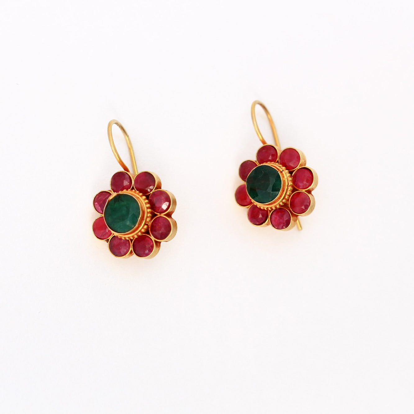 Ruby and Emerald Earrings