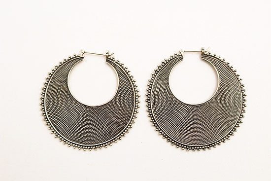 Handmade Sterling Hoops