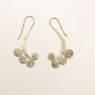 Sterling Spirals Earrings - Trendivine