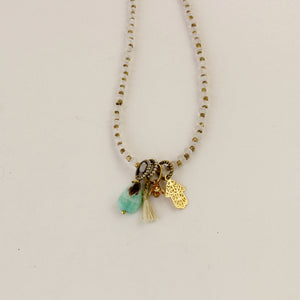 Moonstone Charms Necklace - Trendivine
