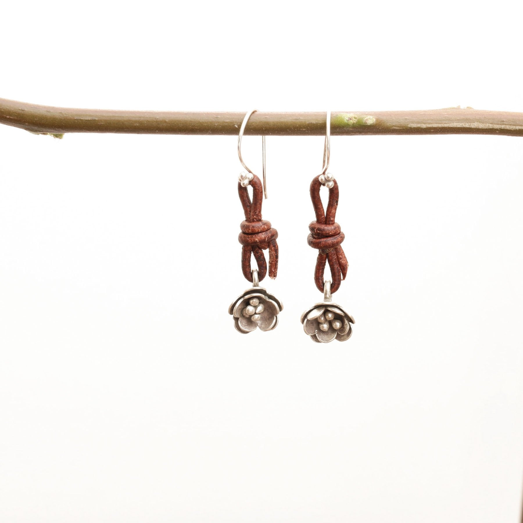 Silver Lotus bud Earrings - Trendivine