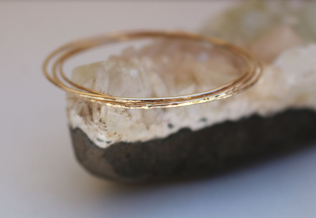 Simple gold filled dainty bangle