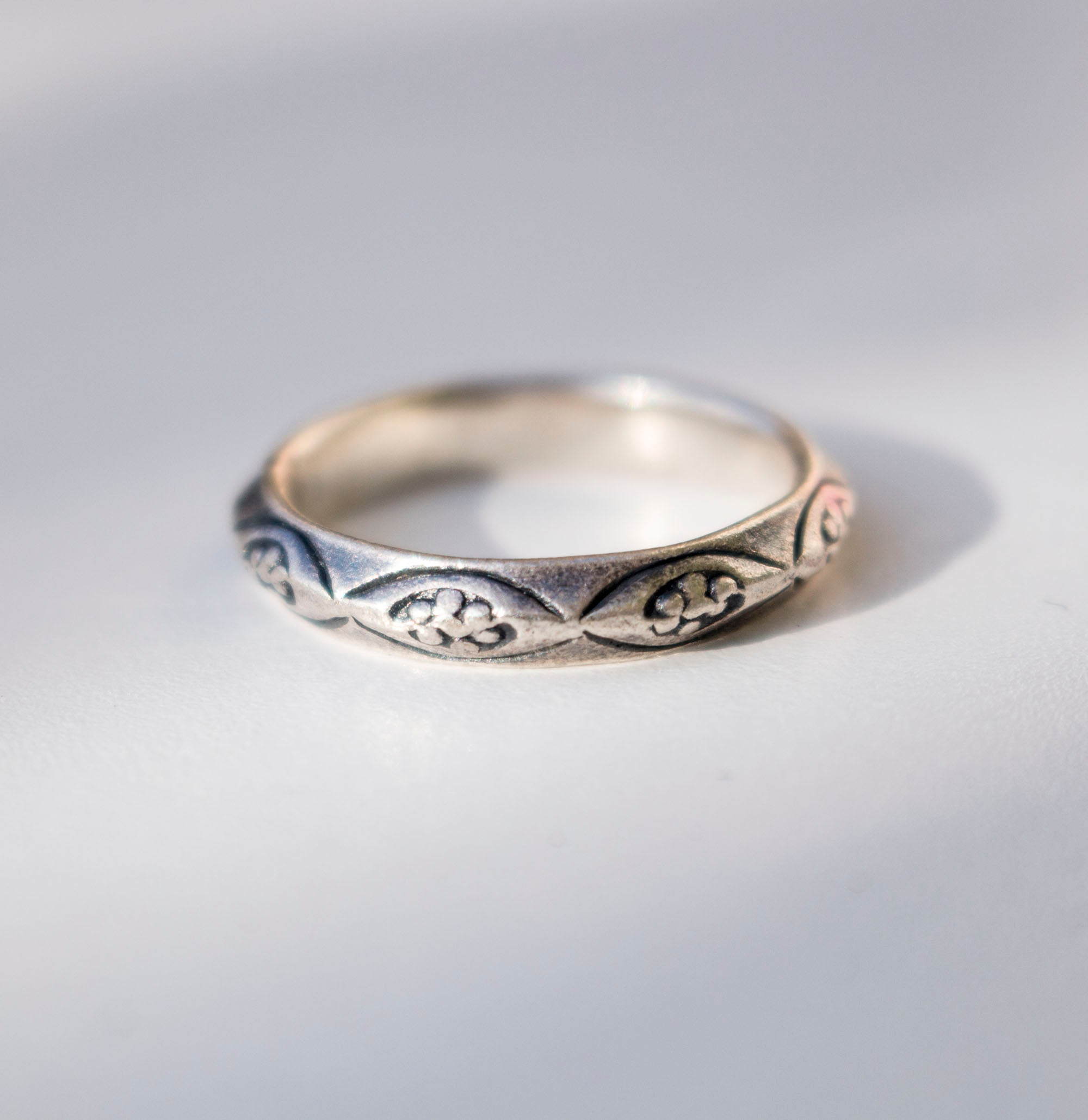 Stamped Sterling Silver ring