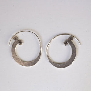 Floral sterling earrings
