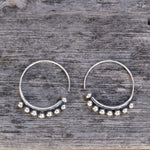 Granule Sterling silver earrings