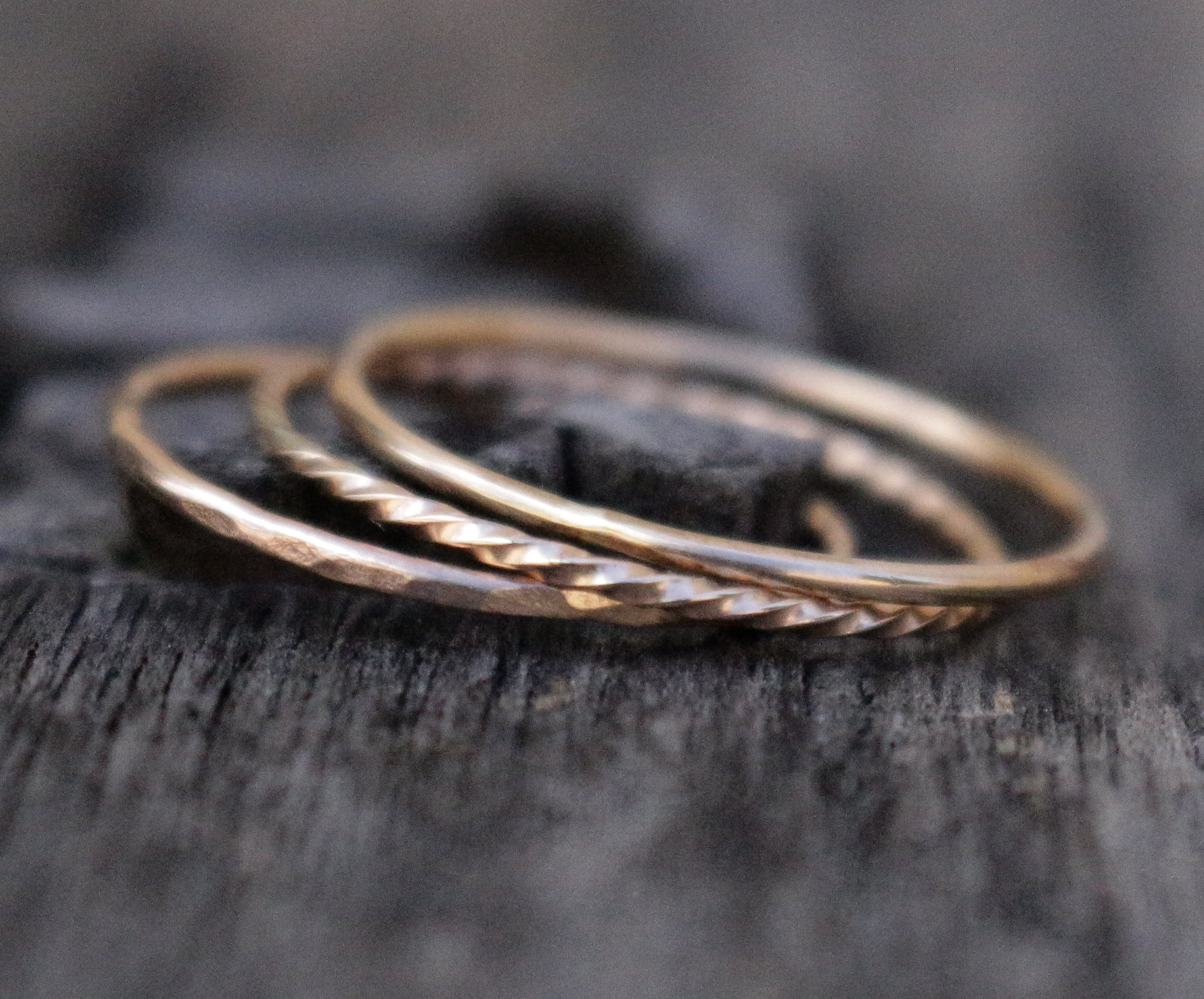 Stackable gold filled rings