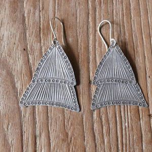 Stamped dangle earrings