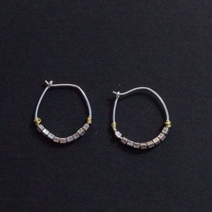 Stamped sterling hoops