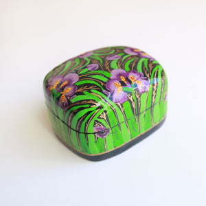 Hand Painted Paper Mache box