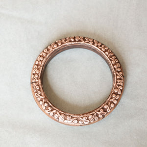 Tibetan Silver Carving Bangle
