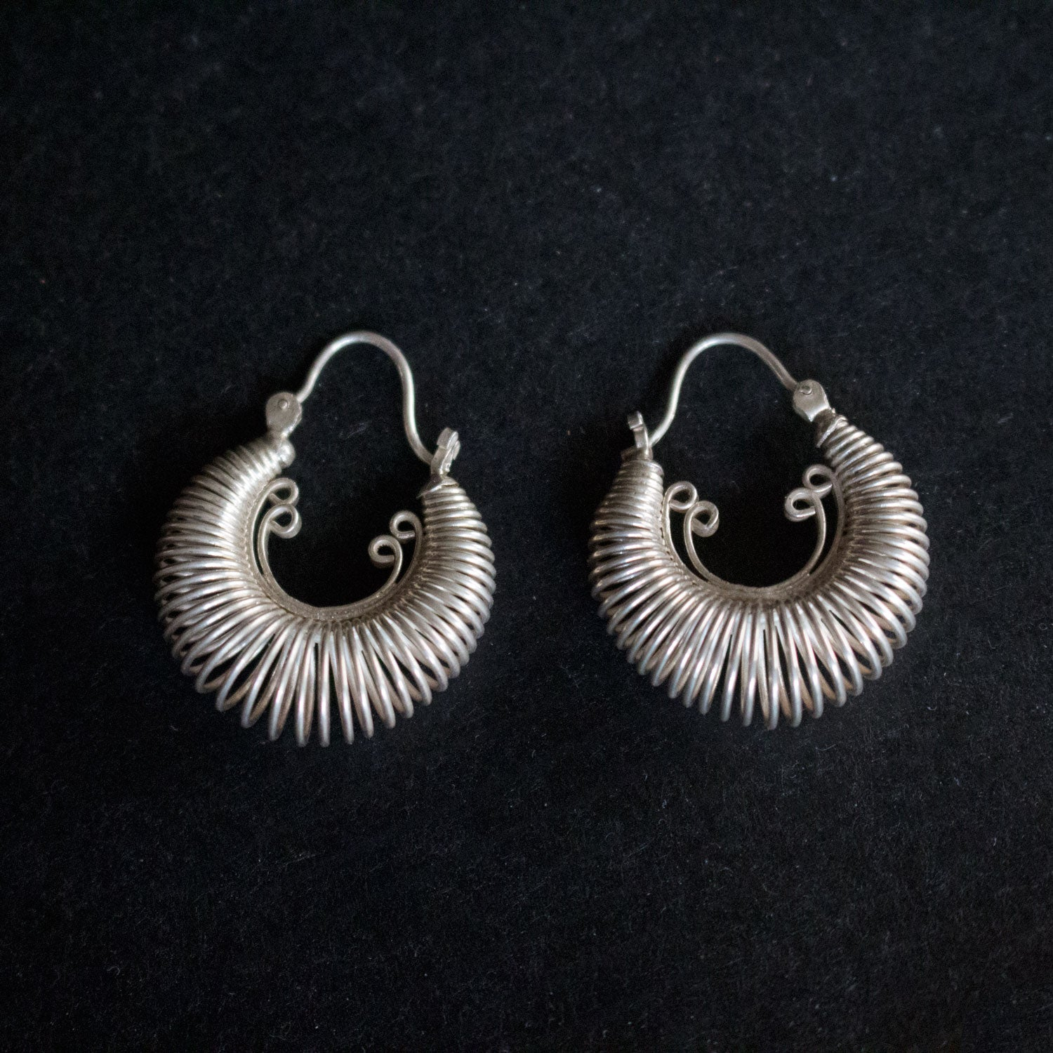 Sterling hoops earrings
